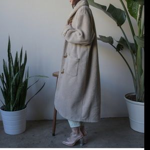 Persephone Vintage Long Fleece Coat